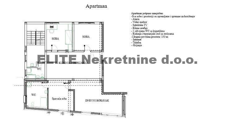 Apartman 2 sprat - pravo - Stan